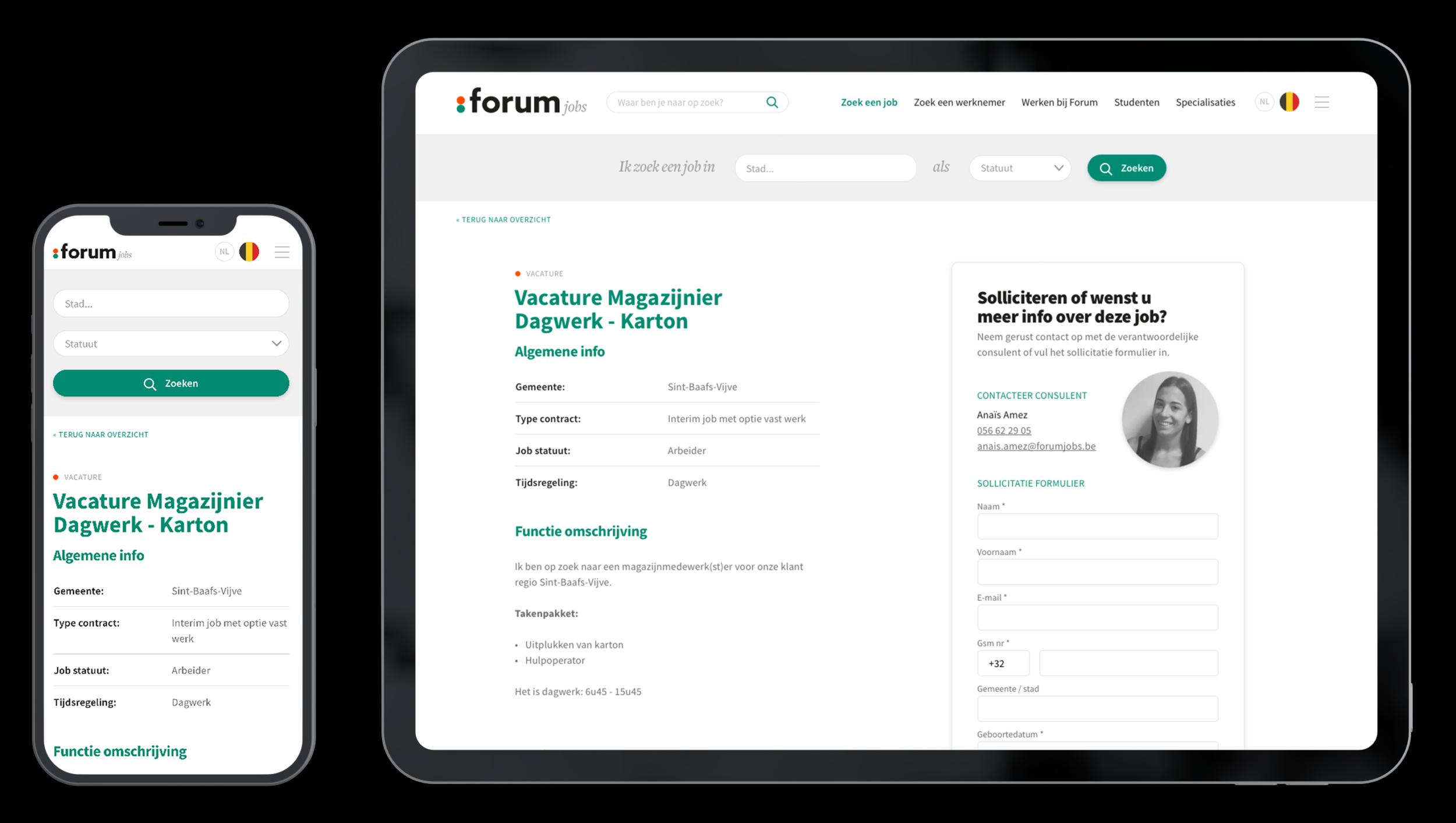 Forum jobs multi device